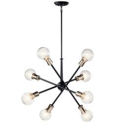 Kichler 43118BK chandelier