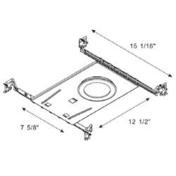 Turolight 3660064 plaque montage 4po ronde pour rgd-cd