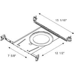 Turolight 3660066 plaque montage 4po carrée pour rgd-cd