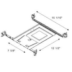 Turolight 3660067 plaque montage 6po carrée pour rgd-cd